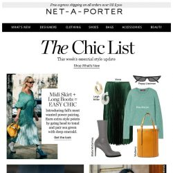 [NET-A-PORTER] Try this week: midi skirts + long boots