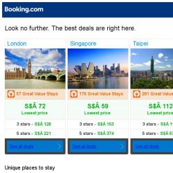 [Booking.com] London, Singapore and Taipei -- great last-minute deals as low as S$ 59!