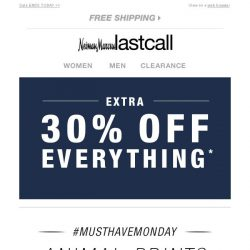 [Last Call] #MustHaveMonday: ANIMAL PRINTS + extra 30% off