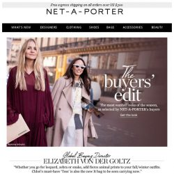 [NET-A-PORTER] Most wanted: the buyers' edit