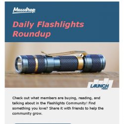 [Massdrop] Your Monday Flashlights roundup: top drops, discussions, and giveaways