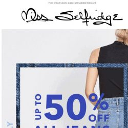 [Miss Selfridge] 👖Up to 50% off ALL jeans 👖