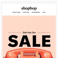 [Shopbop] Up to 70% off: see what's in our SALE