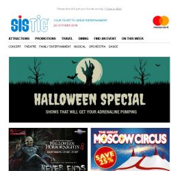 [SISTIC] Enjoy a frightfully good time with these shows 👻