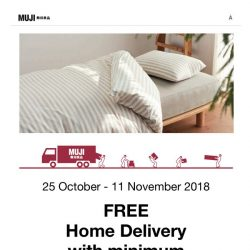 [Muji] MUJI Free Home Delivery (25 Oct - 11 Nov)