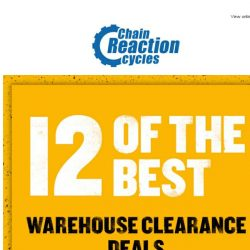 [Chain Reaction Cycles] Revealed: Top 12 Clearance Deals