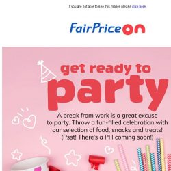 [Fairprice] 🎉 Make Every Minute Count