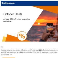 [Booking.com] Save at least 20% in October – just find the badge!
