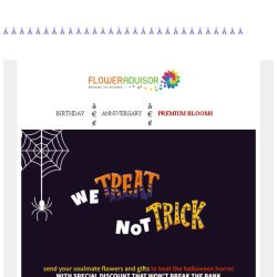 [Floweradvisor] Not a trick, special offer and special items to make halloween a little less horror!