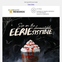 [Starbucks] Sip on Zombie Frappuccino® this Halloween