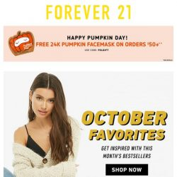 [FOREVER 21] A gift for National Pumpkin Day! 🎁 🎃