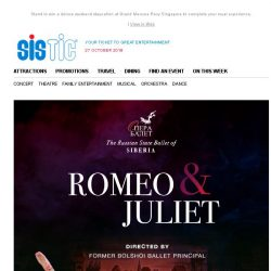 [SISTIC] Fall in love with Romeo and Juliet and experience the finest of Russian ballet this November!