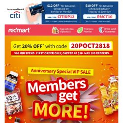 [Redmart] VIP SALE, and you're invited!
