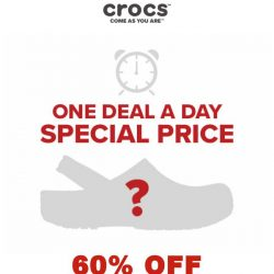 [Crocs Singapore] 【1 DEAL 1 DAY 】 One pair👡 60% off for 1 Day ONLY: starting from October 29th!