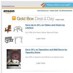 [Amazon] Save Up to 30% on Tables and Chairs by Lifetime