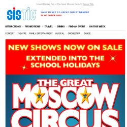 [SISTIC] School Holiday Fun at The Great Moscow Circus!