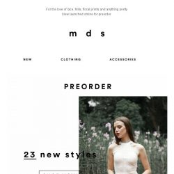 [MDS] THE NEWNESS!   New Styles up for preorder💕