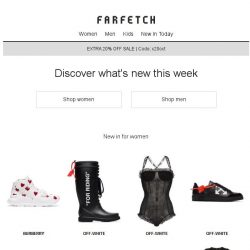 [Farfetch] New In   shop our latest arrivals