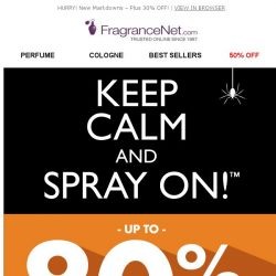 [FragranceNet] FragranceNet VIP, We've UPPED your offer! Now take an extra 30% off all clearance!