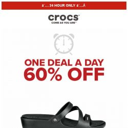 [Crocs Singapore] 【1 DEAL 1 DAY 】 Patricia and more at 60% OFF❗ Today ONLY‼