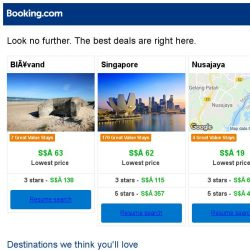 [Booking.com] Blåvand, Singapore, or Nusajaya? Get great deals, wherever you want to go