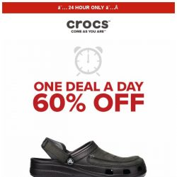 [Crocs Singapore] 【1 DEAL 1 DAY 】 Yukon Vista Clog and more at 60% OFF❗ Today ONLY‼