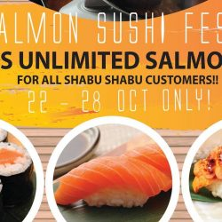 Ramen Champion: Enjoy 90 min of Unlimited Salmon Sushi with Shabu Shabu Meal!