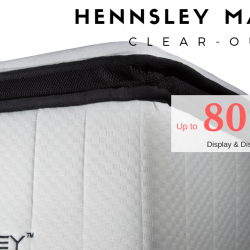 Hennsley: Mattress Clear-Out Sale with Up to 80% OFF for Display & Discontinued Models