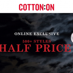 Cotton On: Over 500+ Styles at 50% OFF Online!
