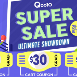 Qoo10: Super Sale with Up to $120 Cart Coupons Up for Grabs!