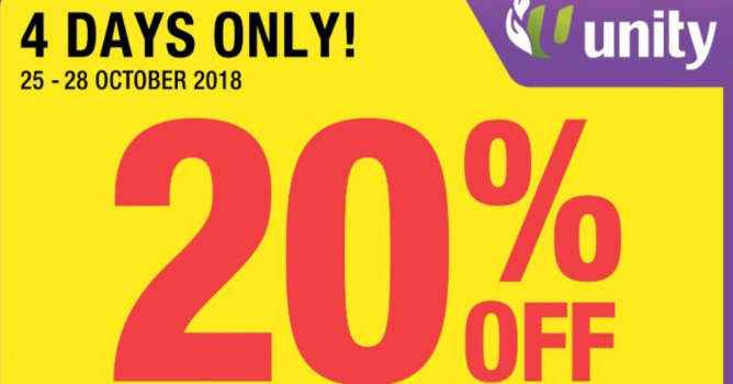 11eaa6e4feaed2 Unity Pharmacy  Enjoy 20% OFF Storewide on Regular-Priced Items with ...