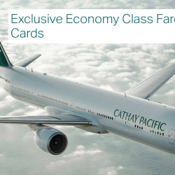 Cathay Pacific: Exclusive Economy Class Fares from SGD228 to Over 50 Destinations with OCBC Cards!