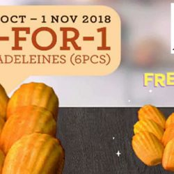Delifrance: Enjoy 1-for-1 Box of Madeleines (6pcs) at All Delifrance Outlets!