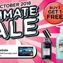 Watsons: 2-Day Ultimate Sale with Up to 67% OFF, Buy 1 Get 1 FREE & 6% Cash Rebate!