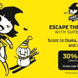 Scoot: Take Off Tuesday with Up to 30% OFF Fares to Taipei, Honolulu, Tokyo, Seoul & More!