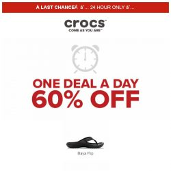 [Crocs Singapore] 【LAST CHANCE】 Win Crocs at 60% OFF❗ Today ONLY‼