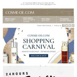 [COSME-DE.com] ✹COSME-DE.COM Shopping Carnival✹ Holiday Flash Sales