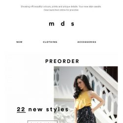[MDS] Your New Style Awaits | Now launched for Preorder