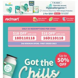 [Redmart] ❄️Thrilling deals that give you chills!