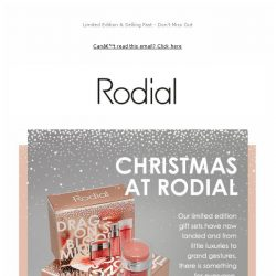 [RODIAL] A Sneak Peek At Our Christmas Collection ❄️