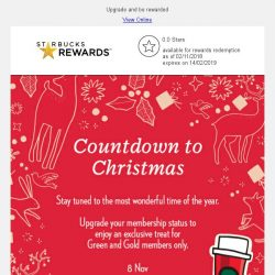 [Starbucks] Countdown to Christmas…