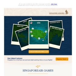 [Singapore Airlines] SingaporeAir Games is back