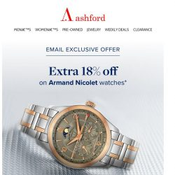 [Ashford] An exclusive Armand Nicolet offer for you