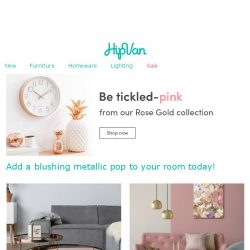 [HipVan] Tickle your sight with our metallic blush tones..