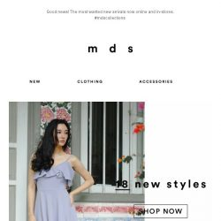 [MDS] We have NEW today! | In-Stores & Online Now