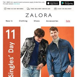 [Zalora] 11.11 Early-Access FLASH SALE! Take 22% Off Sitewide ✨