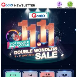 [Qoo10] Celebrate 11.11 With Qoo10! Check Out 1+1 Buddy Flash Deals & Stand A Chance To Win Exclusive Prizes Worth $1000!