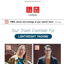 [UNIQLO Singapore] Must-have travel essentials from 14.90