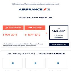 [AIRFRANCE] Book your flight to Lima now