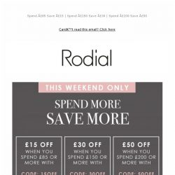 [RODIAL] Find Your New Favourite & Save Up To £50